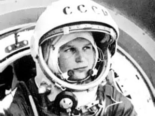 Black and white photo of Yuri Gergoran in space suit